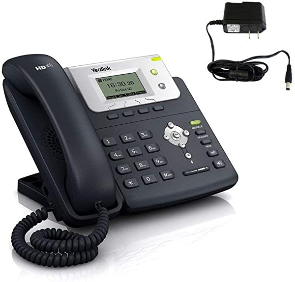 Yealink SIP T21 NON PoE VoIP Phone W 2 Lines HD Voice Power Supply Included Certified Refurbished