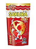 Sakura Gold Tropical Fish Food New Formula, Color Enhancing Mini Floating Pellets High Protein 35% for Goldfish & All Aquarium Tropical Fish 100 Gram(1mm) Fish Feed, Breeding Fish