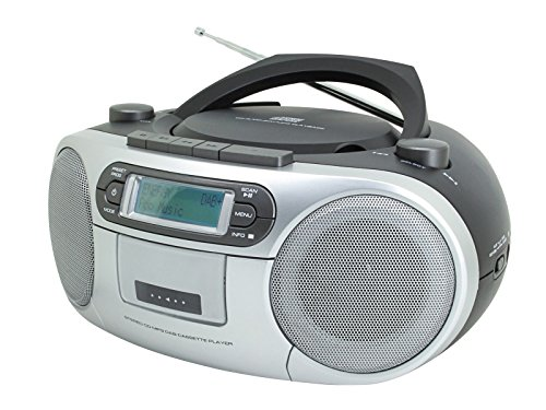Soundmaster SCD7900 in schwarz, DAB+ /UKW Radio, CD-MP3, USB, Kasette, Kopfhörer