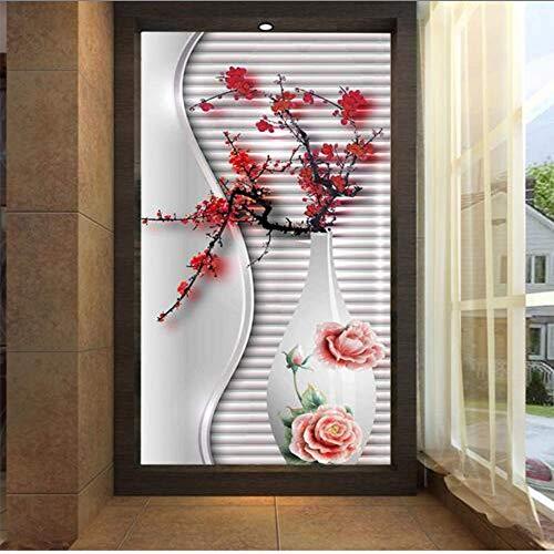 Cczxfcc grote pruim bloesem in vaas abstract foto behang rol voor woonkamer slaapkamer tv achtergrond foto muurschilderingen 140 cm.
