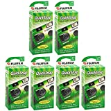 富士フイルム QuickSnap Flash 400 使い捨てカメラ フラッシュ付き 6 Pack (QuickSnap)