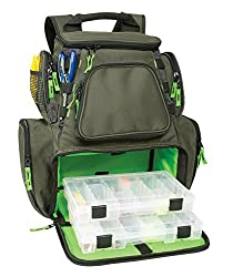 Wild river backpack for holding several tackle boxes.
