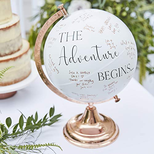 Ginger Ray Botanical Wedding Alternative Style Buch, weiß