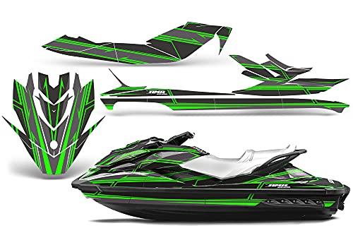 AMR Racing Jet Ski Graphics kit Sticker Decal Compatible with Sea-Doo GTI SE130 2011-2019 - Shocker Green