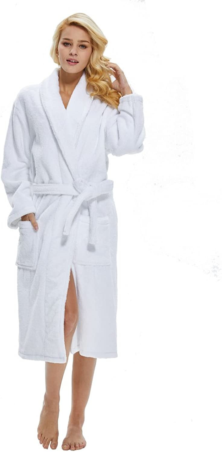 Beryris Luxury Bathrobe for Women  Women's Terry Cloth Robe in Bamboo Viscose,Thick Material,Towel Terry Fabric