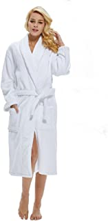 Beryris Luxury Bathrobe for Women - Women's Terry Cloth Robe in Bamboo Viscose,Thick Material,Towel Terry Fabric