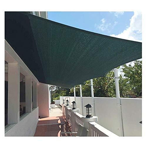 GHHZZQ Vela De Sombra Solar Polietileno de Alta Densidad Anti-UV Respirable Toldo con Dosel por Exterior Patio Jardín, Personalizable (Color : Green, Size : 2x4m)
