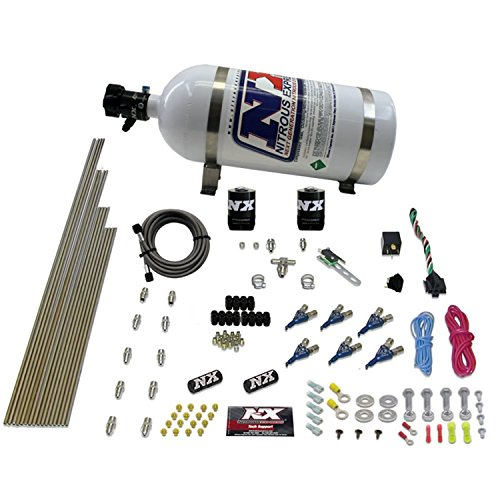 Nitrous Express 80006EFI-10 60-250 HP 6-Cylinder Gasoline EFI Piranha Nozzle System with 10 lbs. Bottle