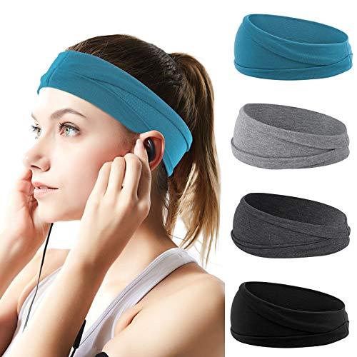 QKURT Sport Stirnband für Damen, Yoga Stirnband, Fitness Stirnbänder Schweissband für Laufen Trainieren Ausbildung