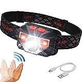 LED Headlamp, 700 Lumens USB Rechargeable Headlight with Battery Indicator, Smart Sensor, Waterproof