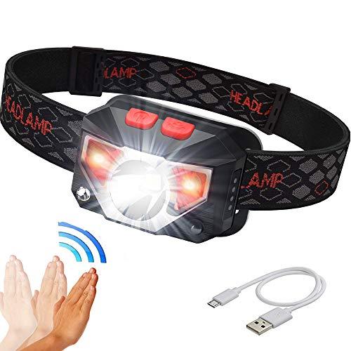 Camping Fahrrad 2-LED 400LM Scheinwerfer IR Stirnlampe Taschenlampe Kopflicht