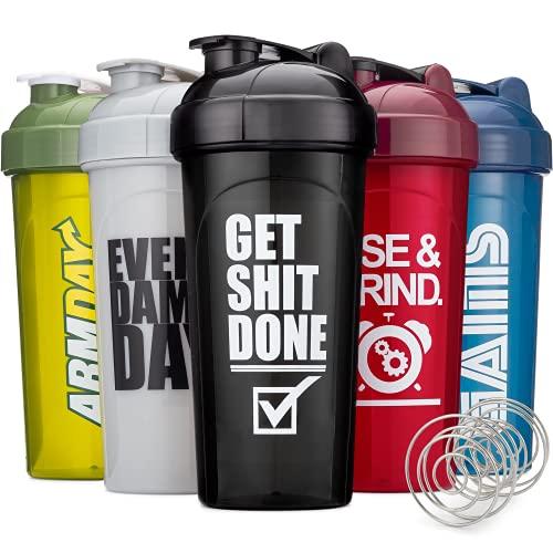 Hydra Cup [5 Pack] OG Shaker Bottles 28-Ounce, Max Value Blender Pack,...