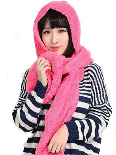 Ducomi GeekChic - Guantes de lana térmica cálidos y bufanda para invierno - Juego de moda 3 en 1 - Idea de regalo para mujer y niña para Navidad(Fuchsia)