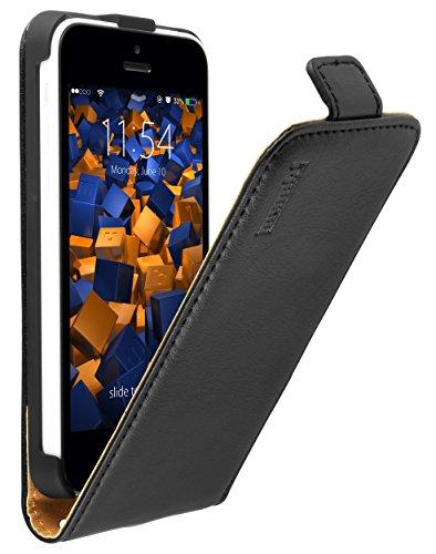 Mumbi Flip Case - Funda para Apple iPhone 5C, Negro