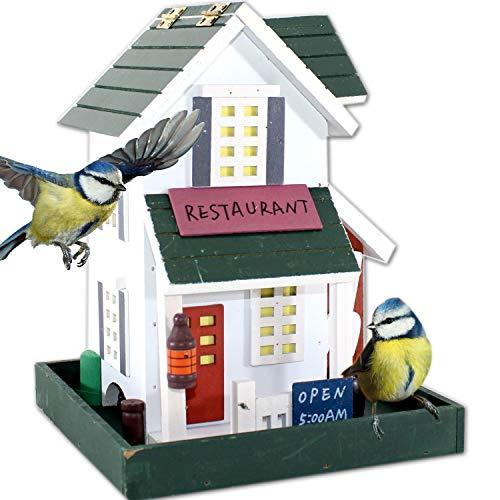 VOGELFUTTERHAUS | Vogelvilla Futterhaus zum hängen Vogel Kasten Fachwerk Haus Vogelhaus