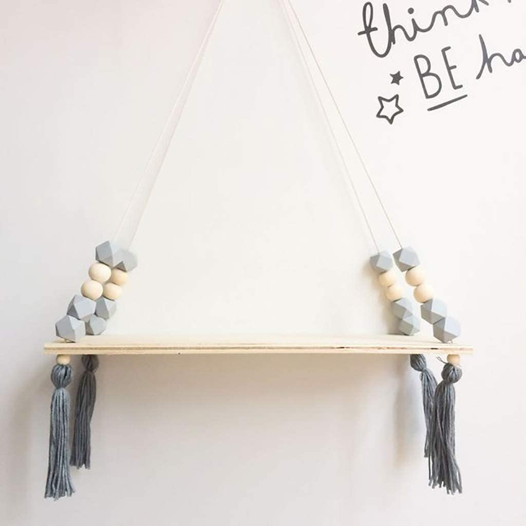 WMMING Floating Shelf Bargain A surprise price is realized Nordic Style w Beads Wood Colorful Shelves