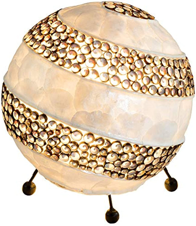 Kugel Tisch Leuchte Muschel Schlaf Gste Zimmer Beleuchtung Beistell Lampe rund Globo 25815