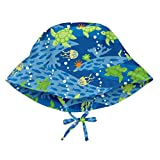 i play. by green sprouts unisex-baby Bucket Sun Protection Hat,Royal Blue Turtle Journey,0...