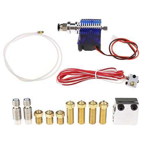 Create Idea 3D Printer V6 Extruder Kit + Extra Parts compatible with 3D Printer 1.75mm / 0.4mm