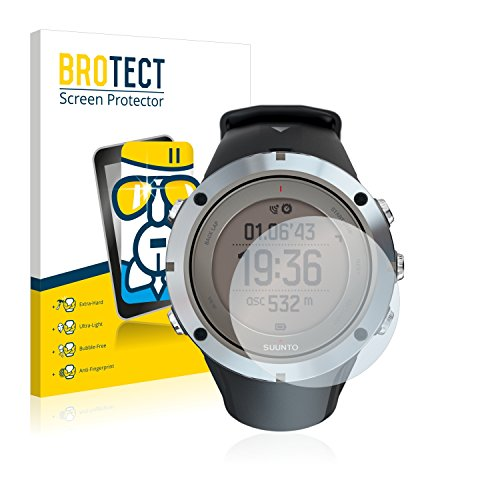 BROTECT Panzerglas Schutzfolie kompatibel mit Suunto Ambit3 Peak Sapphire - AirGlass, 9H Härte, Anti-Fingerprint, HD-Clear