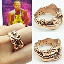 Thai amulets ring Inn-Ku Hugging for love attraction, success in love blessed by Lp Nearkeaw. Copper material, adjustable ring free size