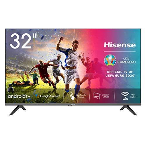 Hisense 32AE5600FA Smart TV Android, LED HD Ready 32', Design Slim, USB Media Player, Tuner DVB-T2/S2 HEVC Main10, Bluetooth