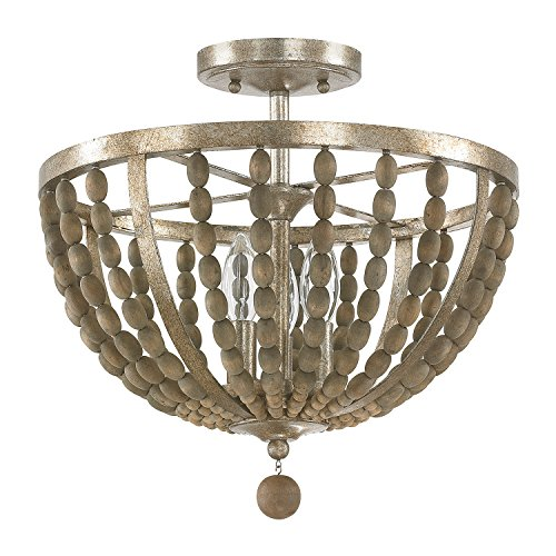 Capital Lighting 4795TZ Three Light Semi Flush Fixture