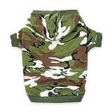 DroolingDog XS Dog Clothes Boy Dog Shirts Pet Dog Clothing Cat Costume Dog Camo Hoodie T Shirt for Small Dogs, XS, Green