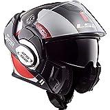 LS2 Casque moto VALIANT AVANT Blanc Noir Rouge - L, Blanc/Noir/Rouge, Taille L
