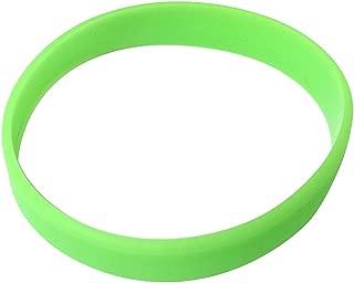 Vitalite 100pcs/set Plain Silicone Wristbands Blank Rubber Bracelets for Adult