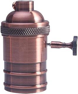 Edison - Portalámparas E27 para lámpara colgante o aplique de pared (oro rosa)