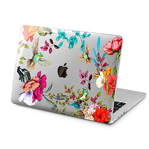 Cavka Hard Shell Case for Apple MacBook Pro 13' 2019 15' 2018 Air 13' 2020 Retina 2015 Mac 11' Mac 12' Hummingbird Laptop Protective Birds Plastic Bloom Cover Design Flowers Print Exotic Garden Cute