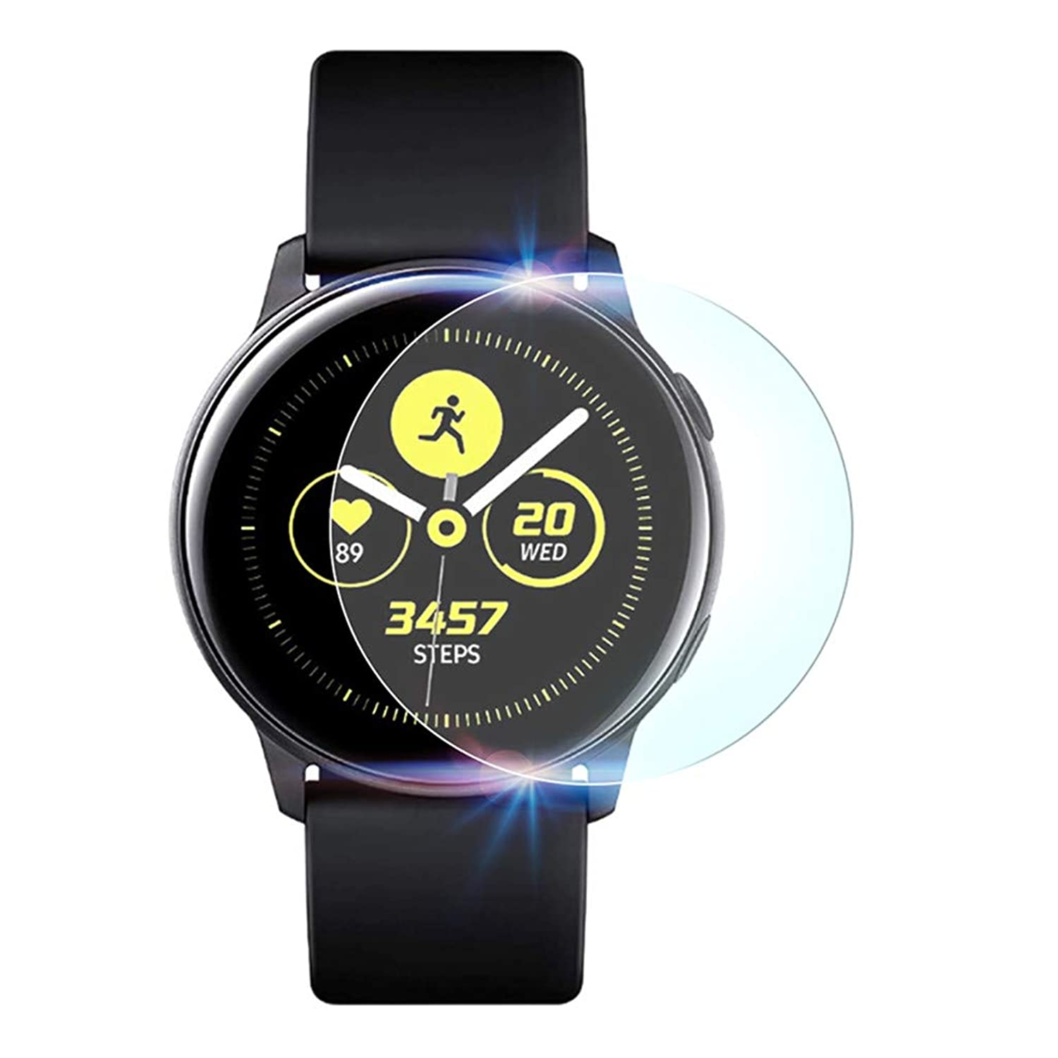 Samsung Galaxy Watch Active bandのためのスクリーンプロテクターアクティブ、Redvive 2pcs防爆TPU /強化ガラス/ペットスクリーンプロテクターフィルム