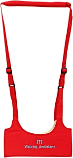 Leather Baby Walking Wings Baby Walking Assistant Learning to Walk Assistant Walking Safety Harness Waterproof (Color : Red)