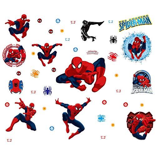 Spiderman Pegatinas Spiderman Pegatinas Decorativas Pared Spiderman Pegatinas de Pared de Spiderman Para Niños Decoración de la Pared Stickers Spiderman