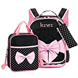 LOCOMO Bags - Set de útiles Escolares de poliéster niña, Bpk006 Black (Negro) - BPK006BLK