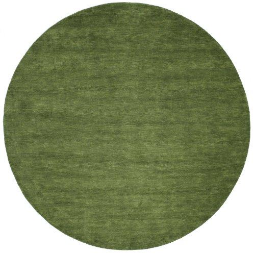 RugVista Handloom - grün Teppich Ø 300 Moderner, Rund Teppich