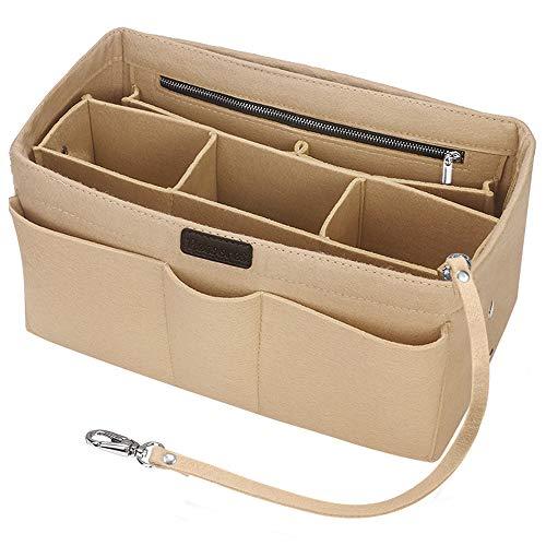 Taschenorganizer Filz Innentaschen für Handtaschen, Betoores Bag in Bag Organizer Innentaschen für Speedy 35 und LV Neverfull MM,Beige - L