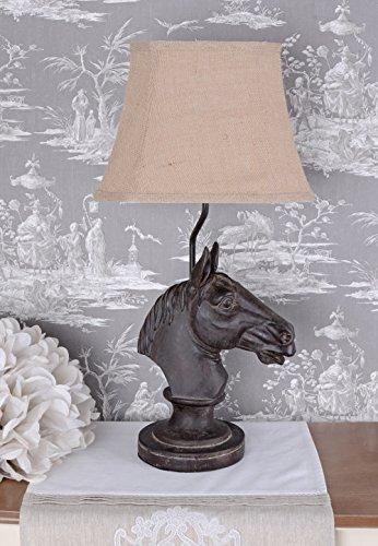 Tischlampe Pferd Lampe Kolonialstil Tischleuchte Pferdekopf Leuchte cw148 Palazzo Exclusiv