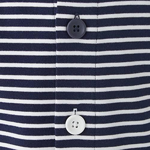 無印良品脇に縫い目のないカットソーお着替えパジャマベビー100~110ネイビーボーダー44336168