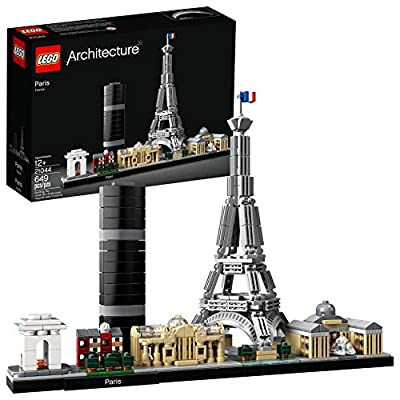 LEGO Architecture Skyline Collection 21044 Paris Skyline Building Kit With Eiffel Tower Model and other Paris City Architecture for build and display (649 Pieces) from LEGO