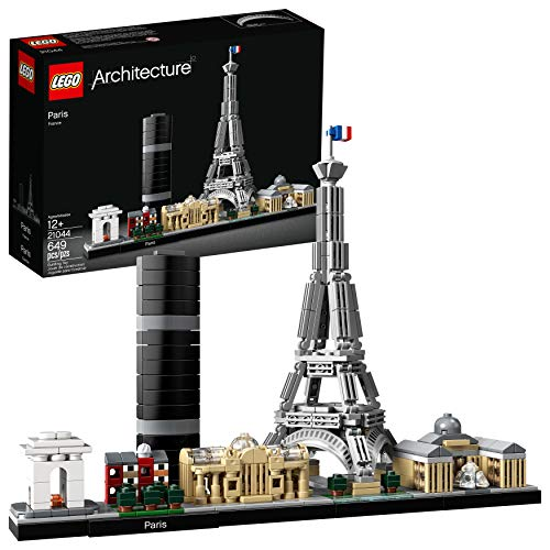 Bonbell Lego Architecture Skyline Collection 21044 Paris Skyline Building Kit with Eiffel Tower Model and Other Paris City Architecture for Build and Display (649 Pieces)