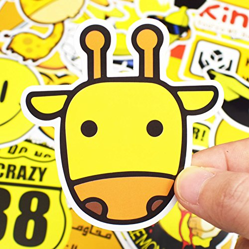 50 Unds friki pegatinas stickers yellow diseños distintos mix para ...