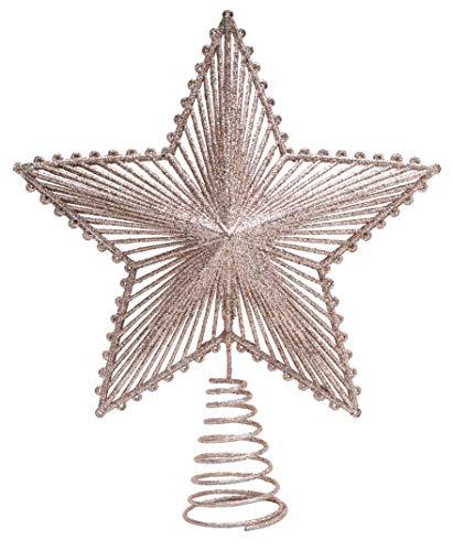 Toyland® Weihnachtsbaumspitze, 22 cm, goldfarben, glitzernd