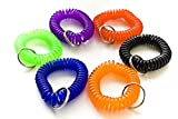 100pcs Colorful Soft Spring Spiral Coil Elastic Wrist Band Key Ring Chain by OnDepot.com