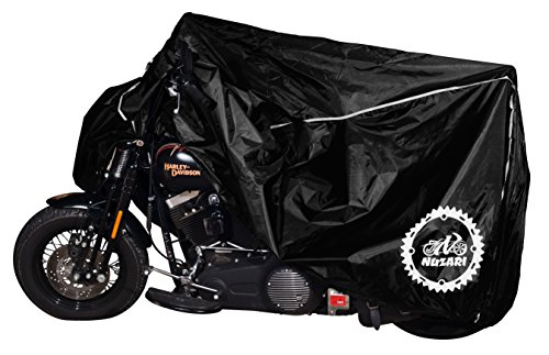 Nuzari Premium Motorcycle Cover - Motorcycle Cover Harley Davidson - Bike Covers Outdoor Storage Waterproof - Motorcycle Accessories XXL