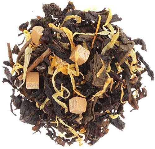AURESA Grüner Tee Oolong Sahne-Karamell | Besonders milde Variante | Halbfermentierter Tee mit echten Karamellstücken