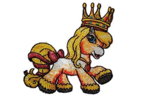 alles-meine.de GmbH Filly Princess Queen Leonarda 7 cm * 7,6 cm Bügelbild Aufnäher Applikation