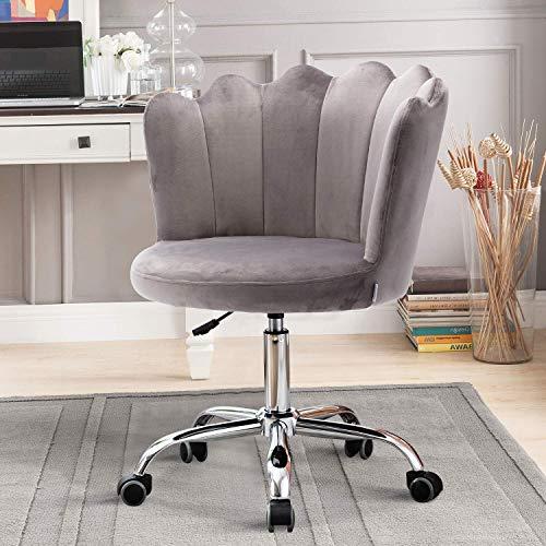 Recaceik Velvet Swivel Shell Chair