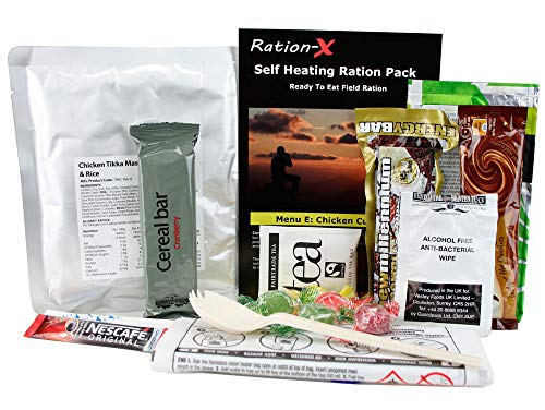 Self Heating Field Ration Pack Ready To Eat Meal Menu E